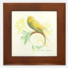Pastel Green Parakeet Framed Tile