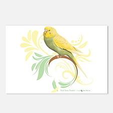 Pastel Green Parakeet Postcards (Package of 8)