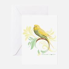 Pastel Green Parakeet Greeting Cards