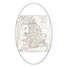 Cute England map Decal
