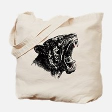 Funny Tiger cat black white kitten graphic smillakatz Tote Bag