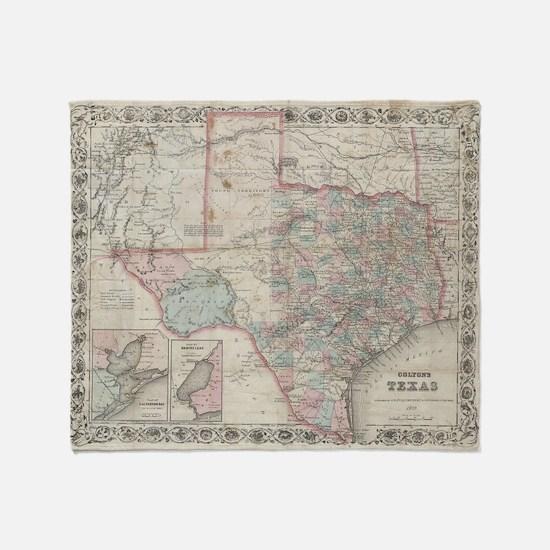 Cute Texas state Throw Blanket