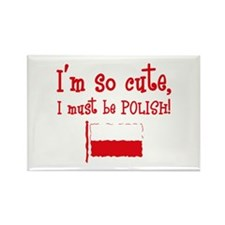 So Cute Polish Rectangle Magnet