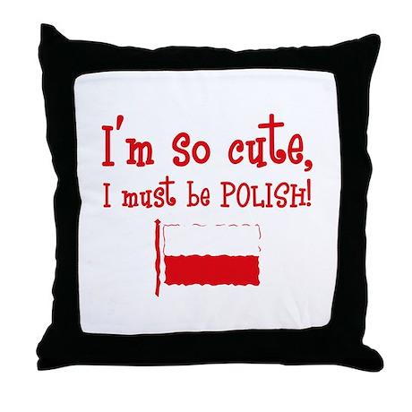 So Cute Polish Throw Pillow