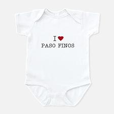 I Heart Paso Finos Infant Creeper