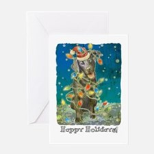 Cool Black lab christmas Greeting Card