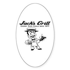 Jack's Grill Oval Decal