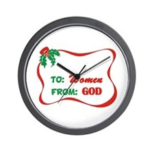 God's Gift To Women Wall Clock