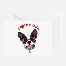 Love for the USA - Greeting Card