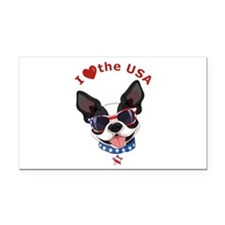 Love for the USA - Rectangle Car Magnet