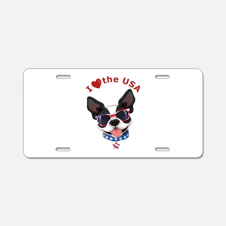 Love for the USA - Aluminum License Plate