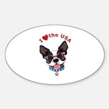 Love for the USA - Sticker (Oval)