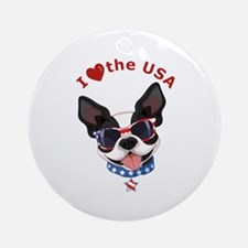 Love For The Usa - Round Ornament