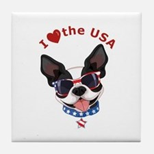 Love for the USA - Tile Coaster