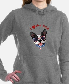 Love for the USA - Women's Hooded Sweatshirt