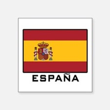 "Cute Spain Square Sticker 3"" x 3"""