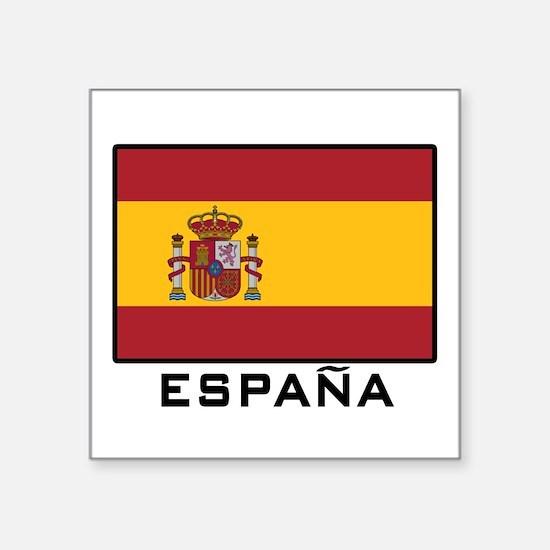"Cute Spanish flag Square Sticker 3"" x 3"""