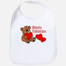 Mimi's Valentine Cartoon Bear Bib