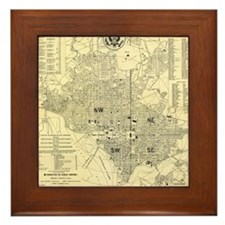 Cute District columbia dc Framed Tile