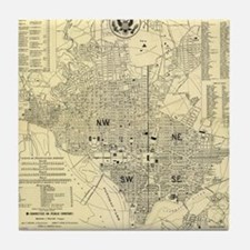 Cute District of columbia (dc) Tile Coaster