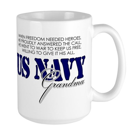 When freedom needed heroes: N Large Mug