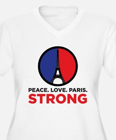 Peace Love Paris Strong Plus Size T-Shirt