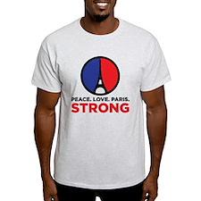 Peace Love Paris Strong T-Shirt