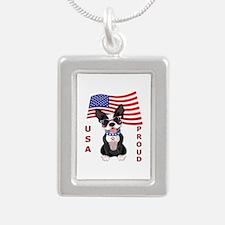USA Proud - Silver Portrait Necklace