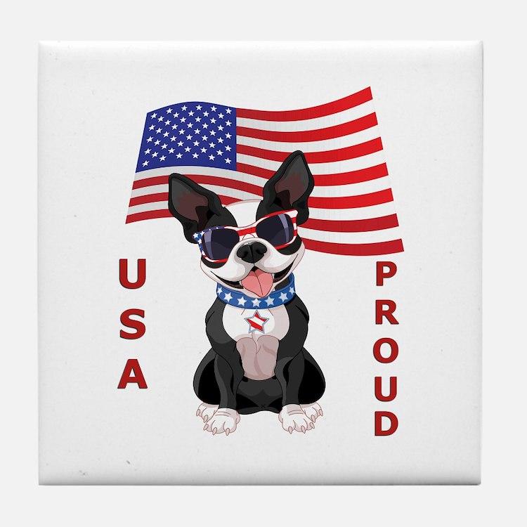 USA Proud - Tile Coaster