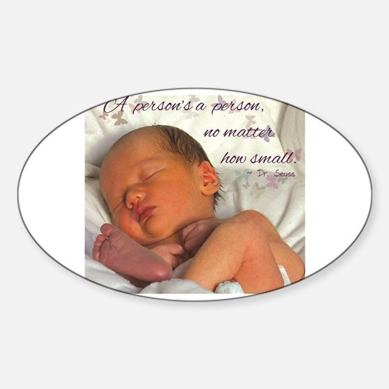 Cute Prolife Sticker (Oval)
