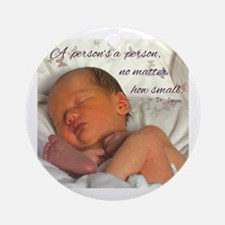 Cute Prolife Round Ornament