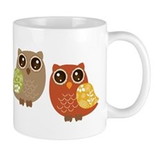 Fall Colored Owls Mugs