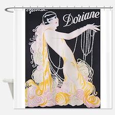 Dorian Vintage Flapper Poster Shower Curtain