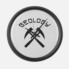 Funny Geology Large Wall Clock