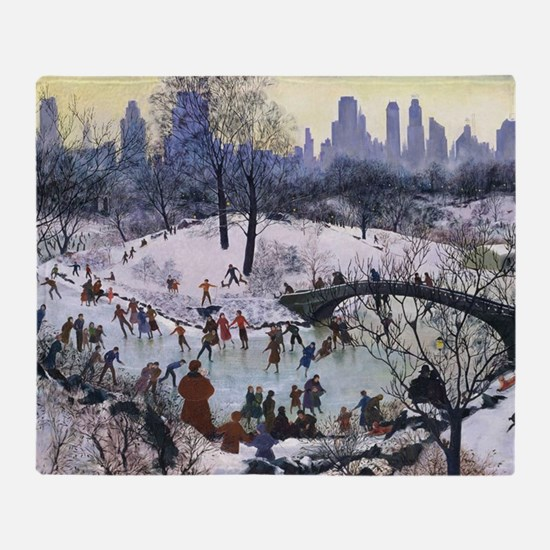 Cool Central park Throw Blanket