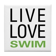 Live Love Swim Tile Coaster