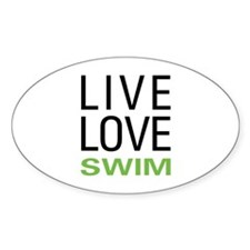 Live Love Swim Oval Decal