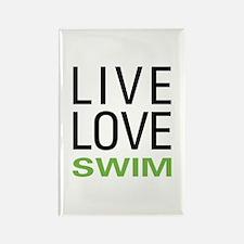 Live Love Swim Rectangle Magnet