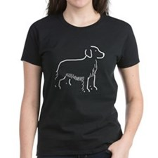 Golden Retriever Sketch Women's Black T-Shirt