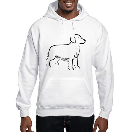 Golden Retriever Sketch Hooded Sweatshirt