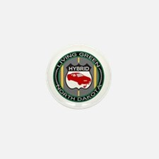 Living Green Hybrid North Dakota Mini Button