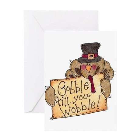Gobble Wobble Greeting Card