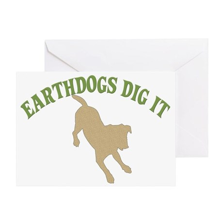 Earthdogs Dig It Greeting Card