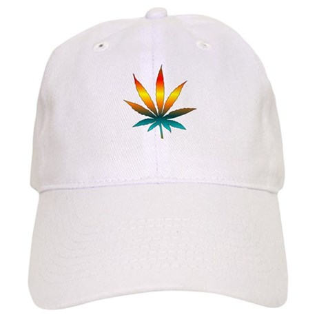 Rainbow Marijuana Leaf Cap