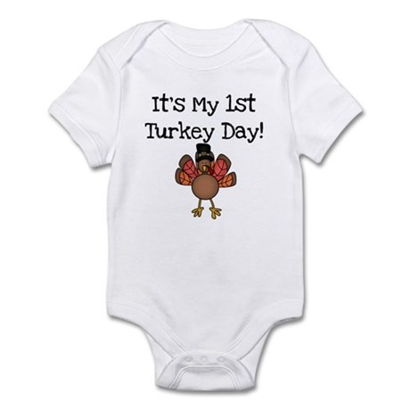 1st Turkey Day Infant Bodysuit