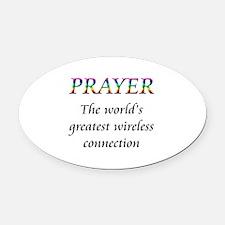 Prayer Oval Car Magnet