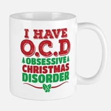 I Have OCD Obsessive Christmas Disorder Mugs