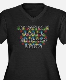 My Favorite Color Is Christmas Lights Plus Size T-