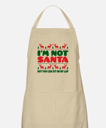 I'm Not Santa But You Can Sit On My Lab Apron
