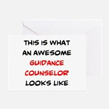awesome guidance counselor Greeting Card